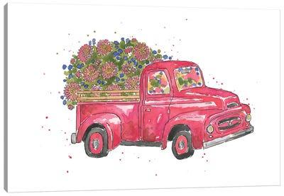 Flower Truck IV Canvas Art Print