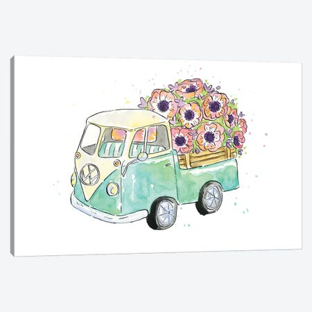 Flower Truck V Canvas Print #MCG5} by Catherine McGuire Art Print