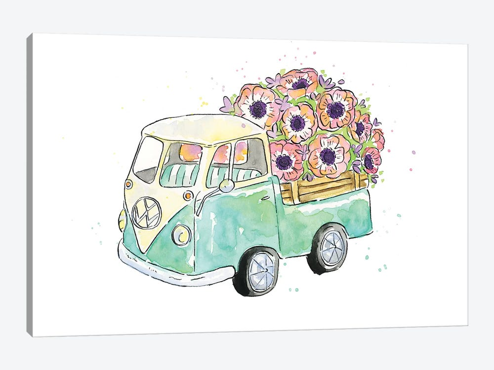 Flower Truck V by Catherine McGuire 1-piece Canvas Artwork