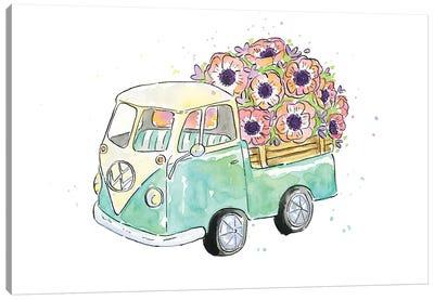 Flower Truck V Canvas Art Print