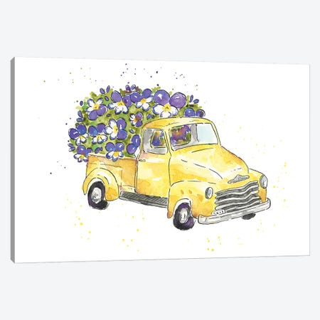Flower Truck VI Canvas Print #MCG6} by Catherine McGuire Art Print