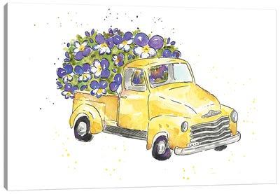 Flower Truck VI Canvas Art Print
