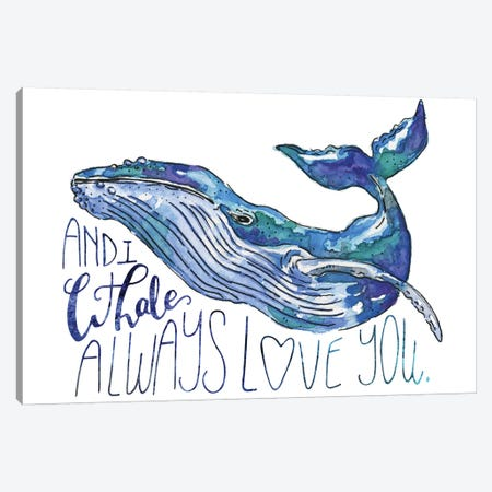 Whale Love I Canvas Print #MCG7} by Catherine McGuire Canvas Art Print