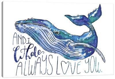 Whale Love I Canvas Art Print