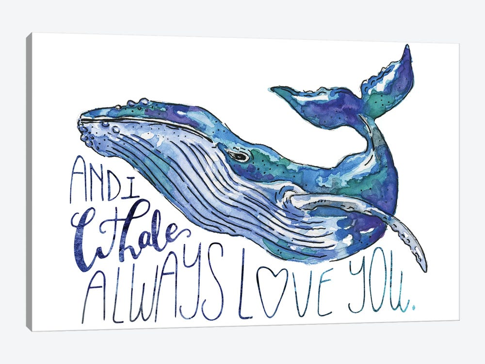 Whale Love I by Catherine McGuire 1-piece Canvas Artwork