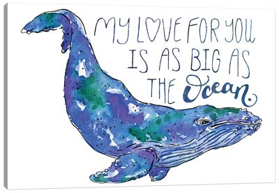 Whale Love II Canvas Art Print