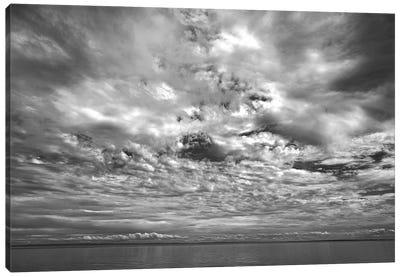 Canada, Prince Edward Island. Clouds And Ocean Canvas Art Print