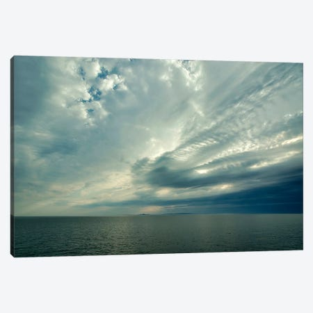 Canada, Quebec, Iles-De-La-Madeleine. Open Sea, View Of Ile D'Entree Canvas Print #MCH8} by Michele Molinari Art Print