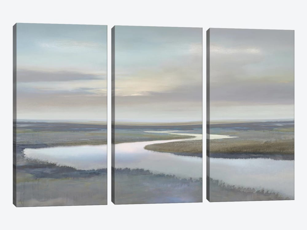 Riverbend IV by Christy McKee 3-piece Canvas Print