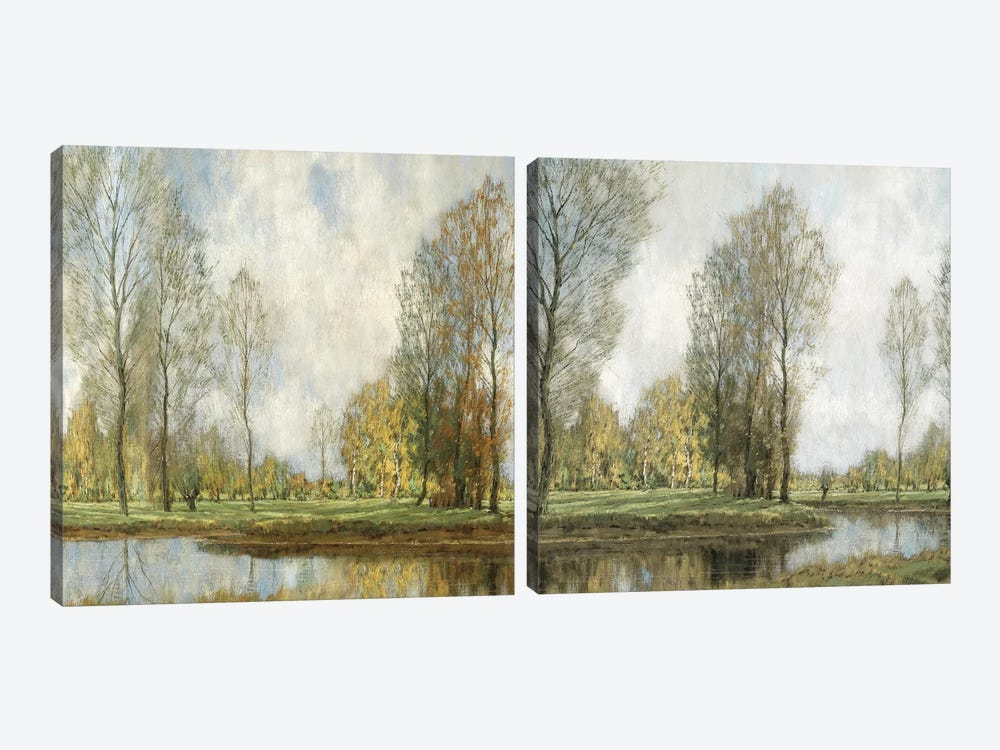 Down By The Water Diptych 2-piece Canvas Art