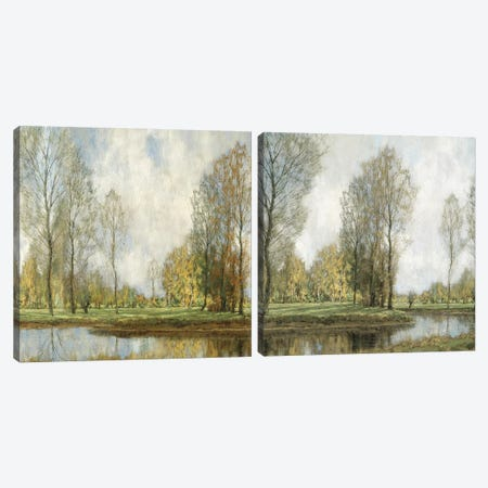 Down By The Water Diptych Canvas Print Set #MCK2HSET001} by Christy McKee Canvas Artwork