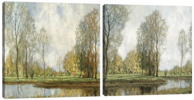 Down By The Water Diptych Canvas Art Print