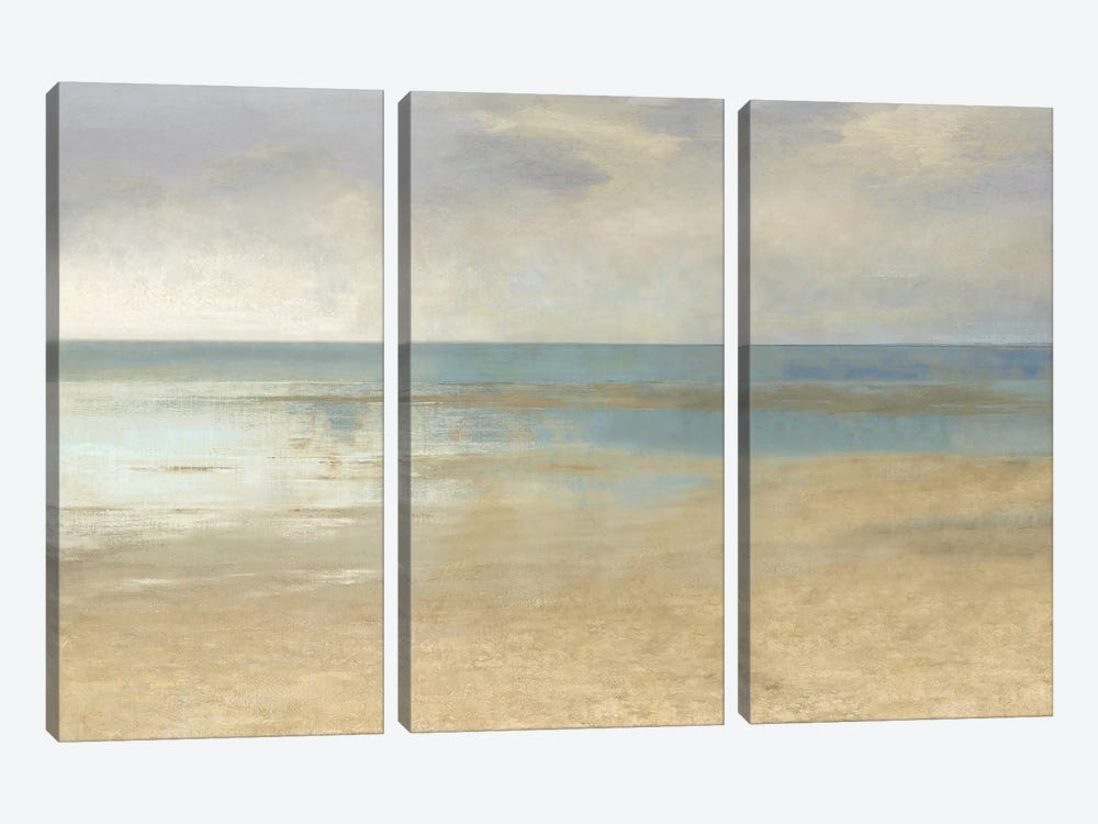 Pastel Seascape I by Christy McKee 3-piece Canvas Print