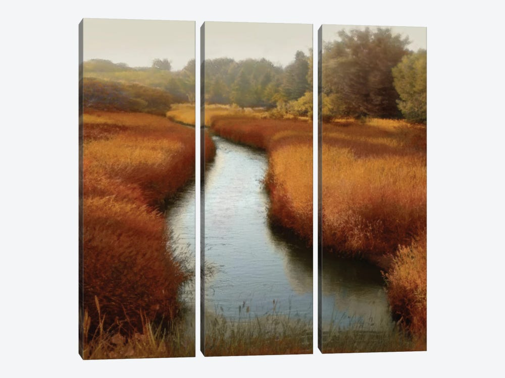 Sunlit Pond I by Madeline Clark 3-piece Canvas Print