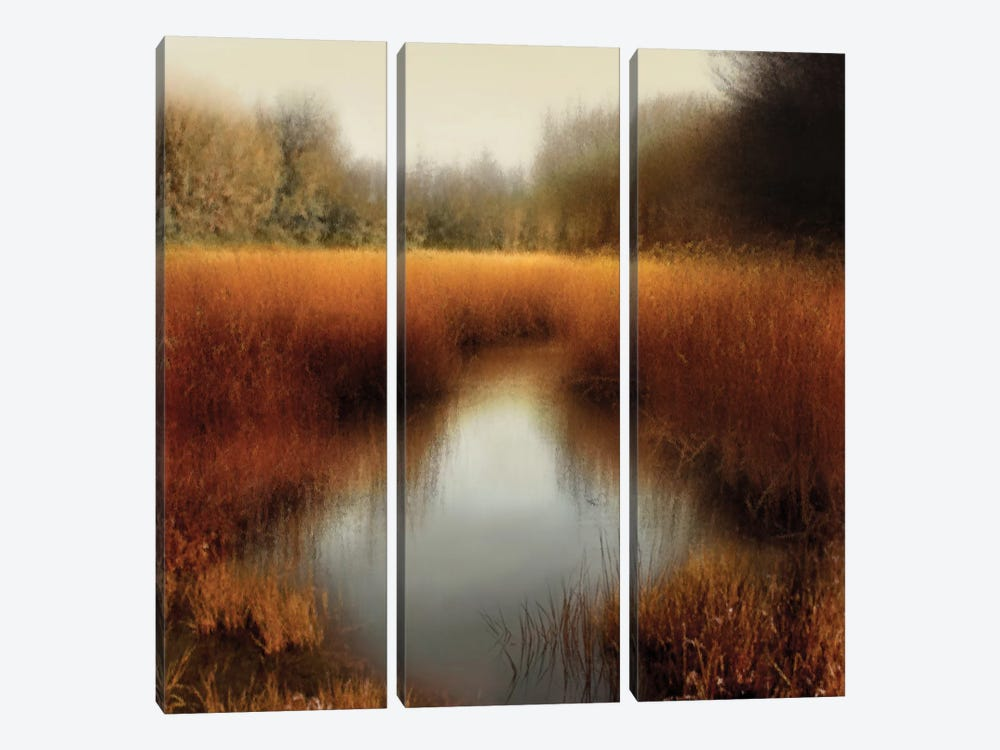 Sunlit Pond II by Madeline Clark 3-piece Canvas Artwork