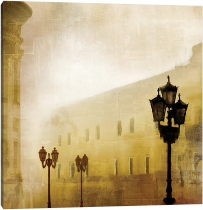 Fog Town I Canvas Art Print