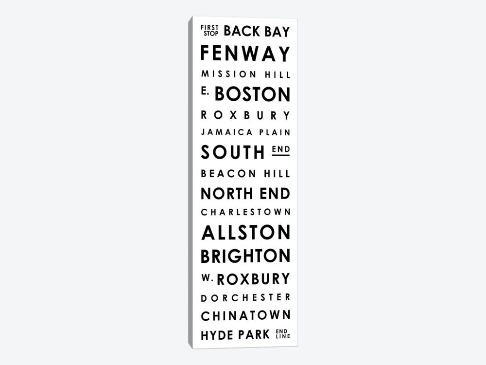 Boston Typographical Neighborhoods by Mr. City Printing 1-piece Canvas Wall Art