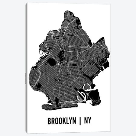 Brooklyn Map Canvas Print #MCP12} by Mr. City Printing Art Print