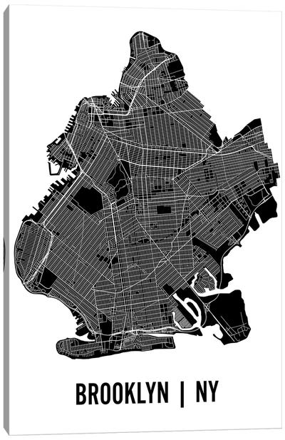 Brooklyn Map Canvas Art Print