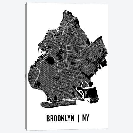 Brooklyn Map Canvas Print #MCP12} by Mr. City Printing Art Print