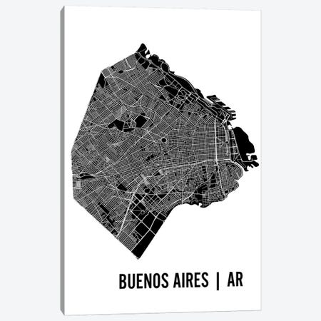 Buenos Aires Map Canvas Print #MCP15} by Mr. City Printing Canvas Wall Art
