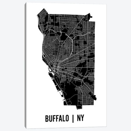 Buffalo Map Canvas Print #MCP16} by Mr. City Printing Canvas Art