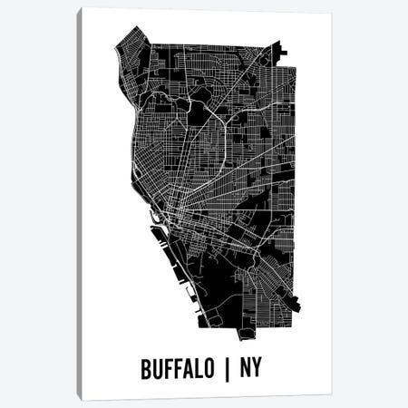 Buffalo Map Canvas Print #MCP16} by Mr. City Printing Canvas Art