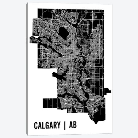Calgary Map Canvas Print #MCP17} by Mr. City Printing Canvas Wall Art