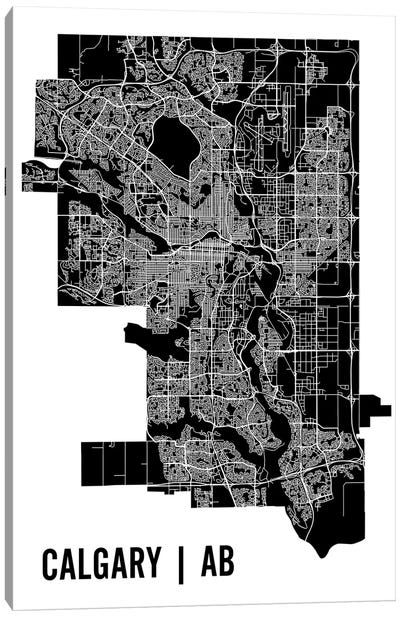 Calgary Map Canvas Art Print