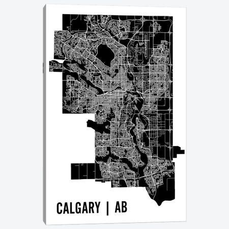 Calgary Map Canvas Print #MCP17} by Mr. City Printing Canvas Wall Art