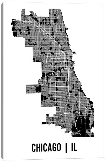 Chicago Map Canvas Art Print