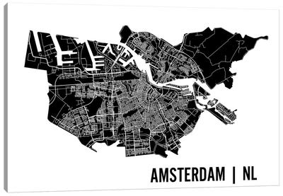 Amsterdam Map Canvas Art Print