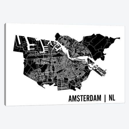 Amsterdam Map 3-Piece Canvas #MCP1} by Mr. City Printing Canvas Artwork