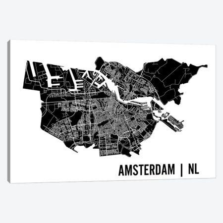 Amsterdam Map Canvas Print #MCP1} by Mr. City Printing Canvas Artwork