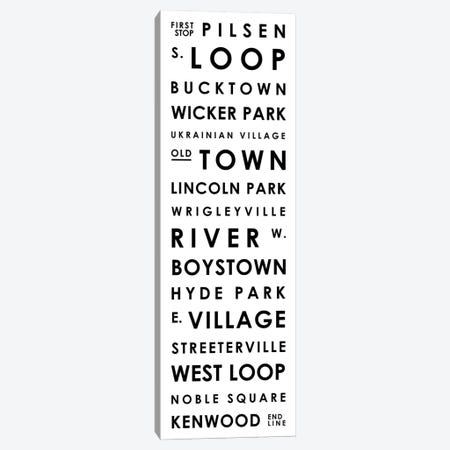 Chicago Typographical Neighborhoods Canvas Print #MCP20} by Mr. City Printing Canvas Artwork