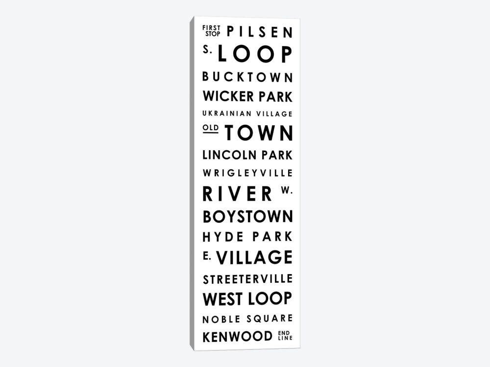 Chicago Typographical Neighborhoods by Mr. City Printing 1-piece Canvas Art