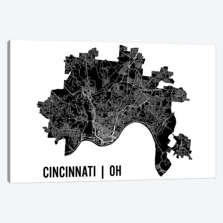 Cincinnati Map Canvas Print #MCP21} by Mr. City Printing Canvas Art