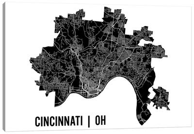 Cincinnati Map Canvas Art Print