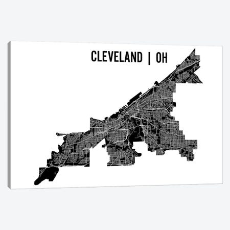 Cleveland Map Canvas Print #MCP22} by Mr. City Printing Canvas Art