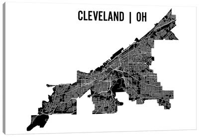 Cleveland Map Canvas Art Print