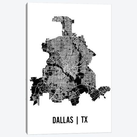 Dallas Map Canvas Print #MCP24} by Mr. City Printing Canvas Print
