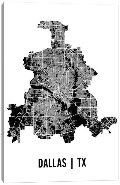 Dallas Map Canvas Art Print