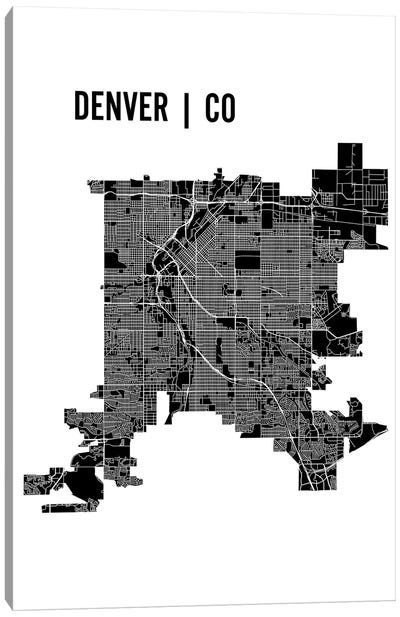 Denver Map Canvas Art Print