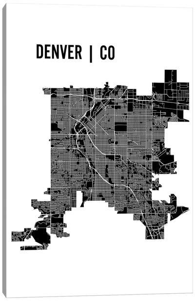 Denver Map Canvas Art Print