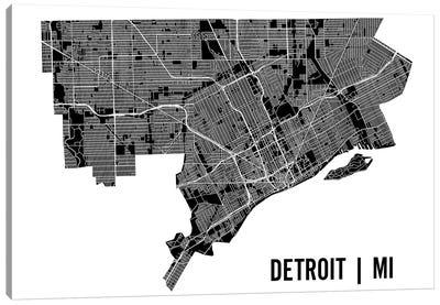Detroit Map Canvas Art Print
