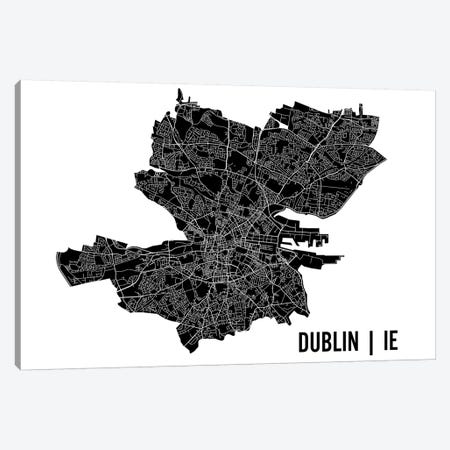 Dublin Map Canvas Print #MCP27} by Mr. City Printing Canvas Art Print