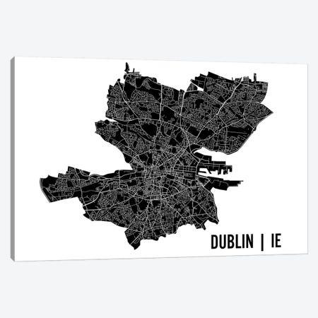 Dublin Map 3-Piece Canvas #MCP27} by Mr. City Printing Canvas Art Print