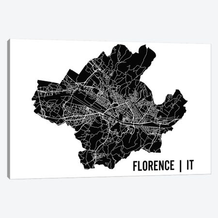 Florence Map Canvas Print #MCP28} by Mr. City Printing Canvas Wall Art