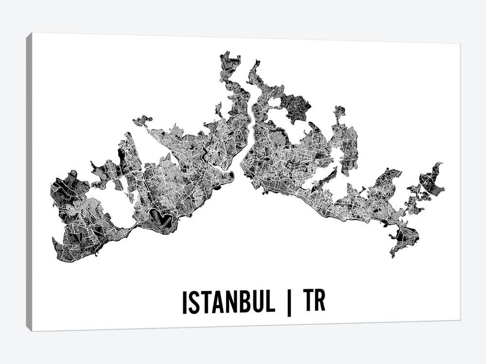Istanbul Map by Mr. City Printing 1-piece Art Print