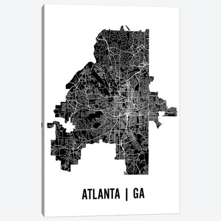 Atlanta Map Canvas Print #MCP2} by Mr. City Printing Canvas Wall Art